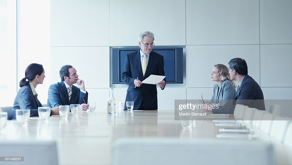 Business people in meeting in conference room : Stock Photo