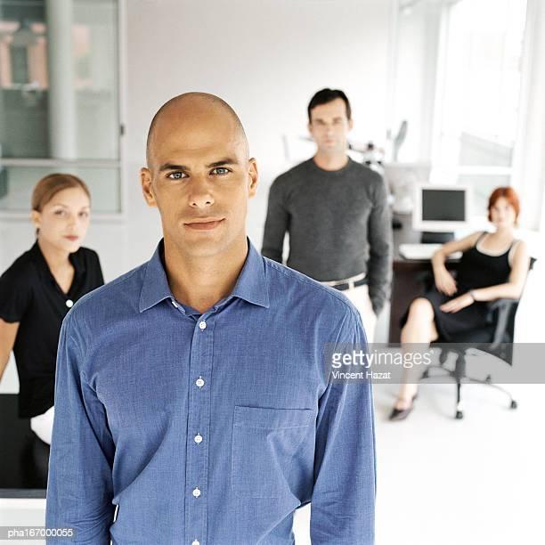 Business people in office, portrait