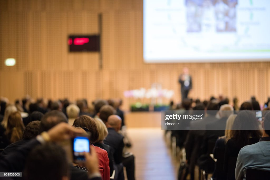 Business people in seminar at auditorium : Stock Photo