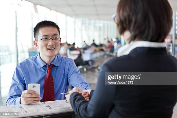 business people in the airport