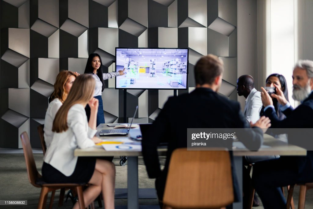 Business people in the board room : Stock Photo