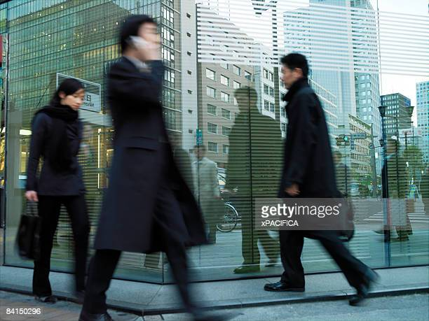 Business people in the financial district
