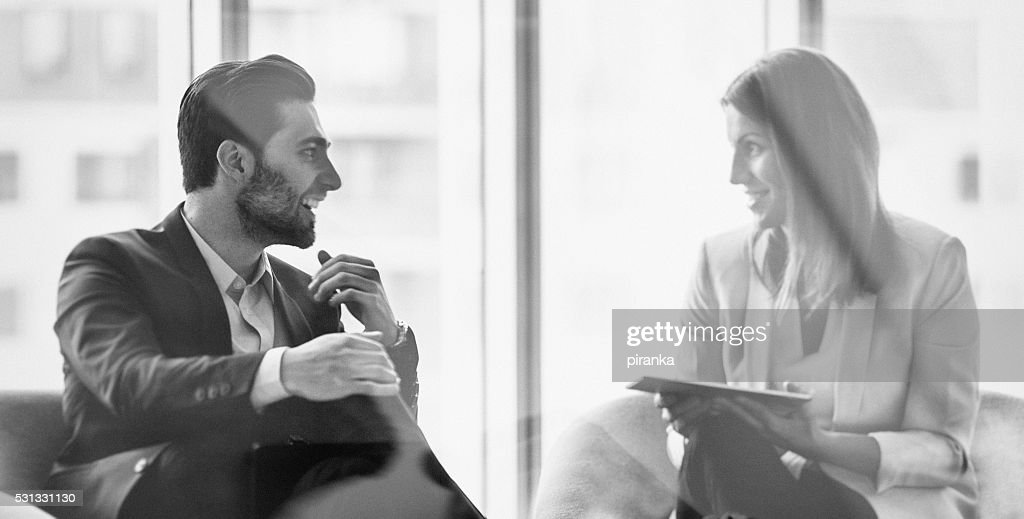 Business people in the office building : Stock Photo