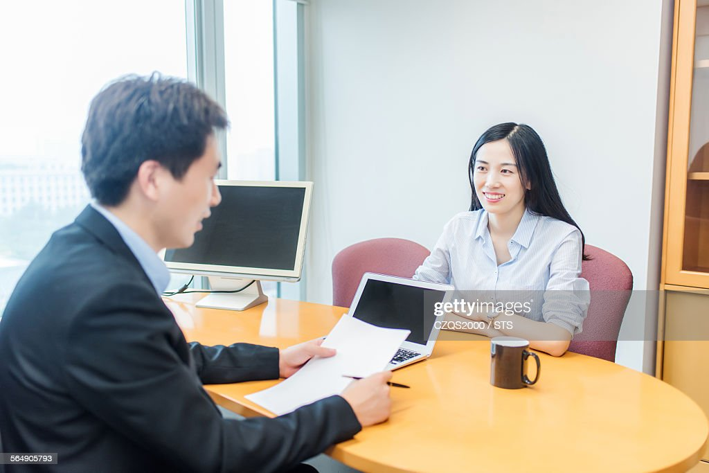 business people interview : Stock Photo