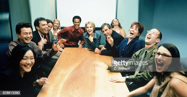 Business People Laughing