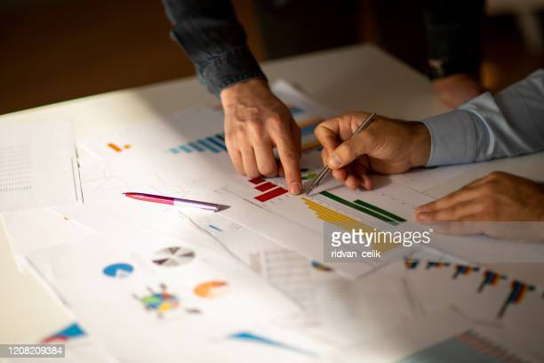 business people meeting growth success target economic concept - accountancy stock pictures, royalty-free photos & images