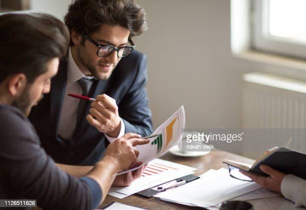 business people meeting planning strategy analysis concept laptop meeting with technology - making money stock pictures, royalty-free photos & images
