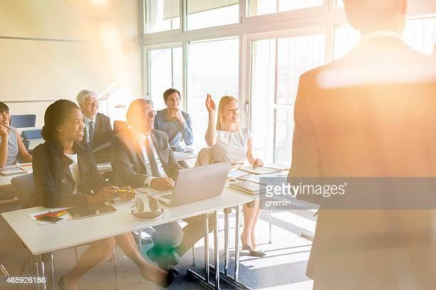 Geschäftsleute, Tagungen, Seminare, Ausbildung, Lernen