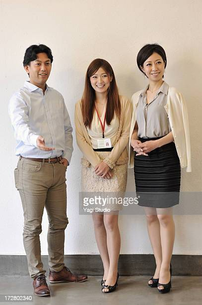 Business people of the three human,japan