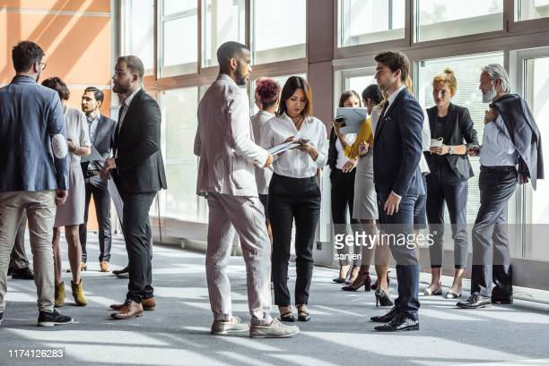 business people on a conference - large group of people stock pictures, royalty-free photos & images