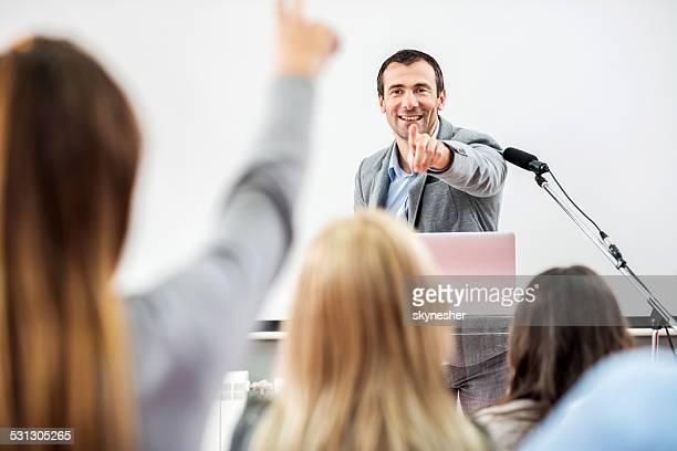 Business people on seminar.