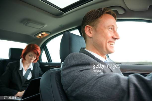 business people on the road