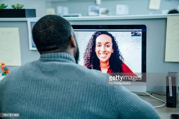 Business people on videoconference