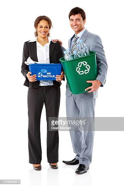 Recyclage des gens d'affaires-isolé