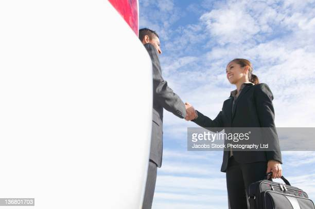 business people shaking hands - sells arizona stock pictures, royalty-free photos & images