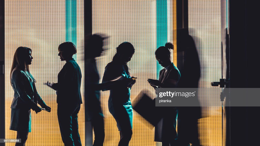 Business people silhouettes : Stock Photo