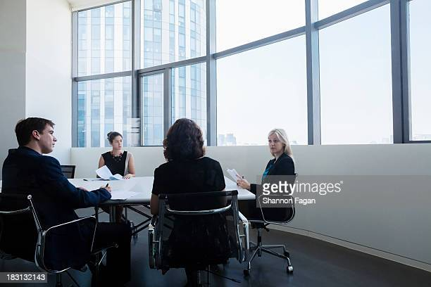 Business people sitting in a business meeting