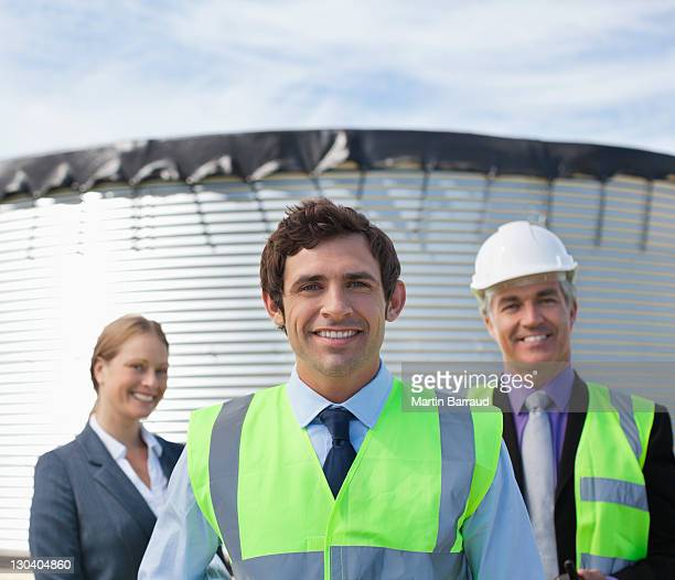 Business people standing together outdoors