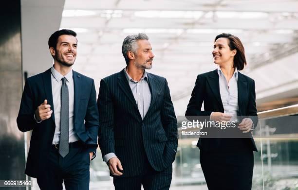 Business people taking a break