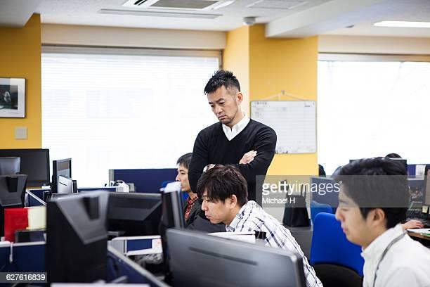 Business people talking in a modern office