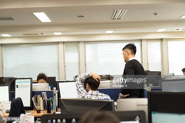 Business people talking in a modern office