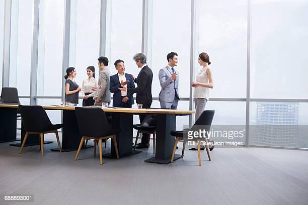 Business people talking in meeting room