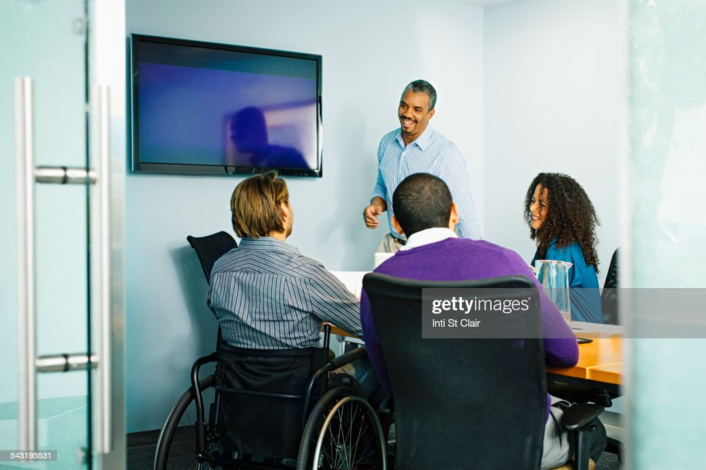 Business people talking in office meeting : Stock Photo