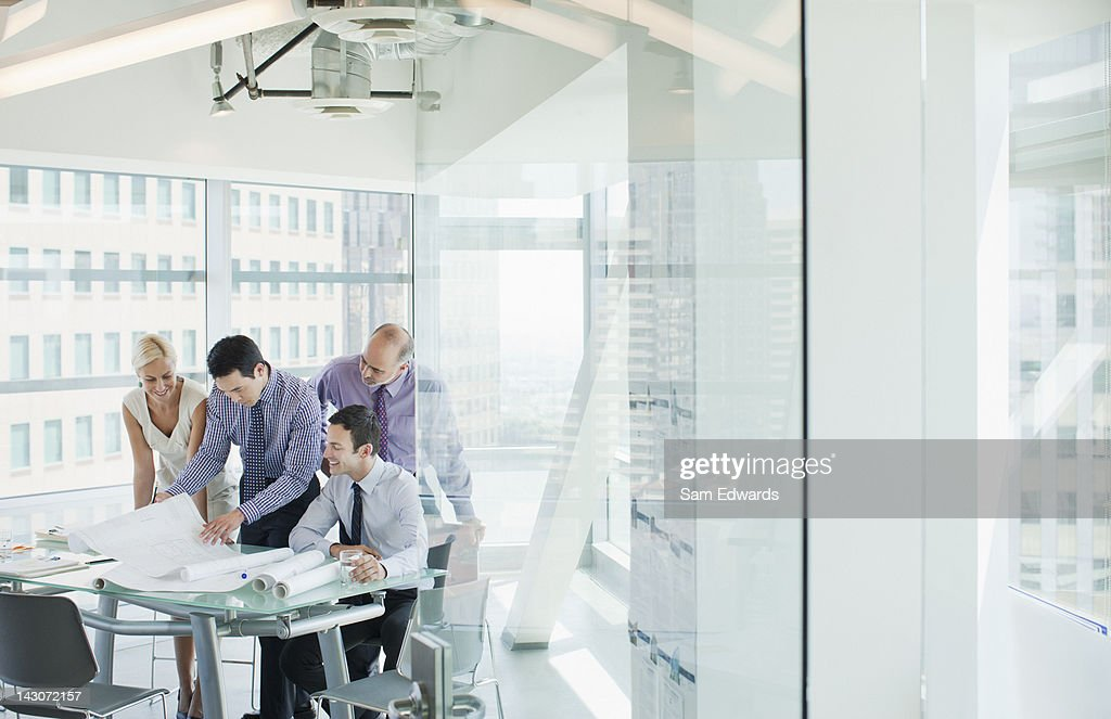 Business people talking in office : Stock Photo