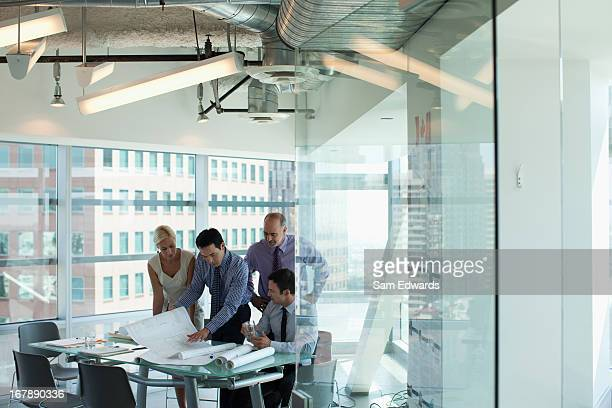 Business people talking in office