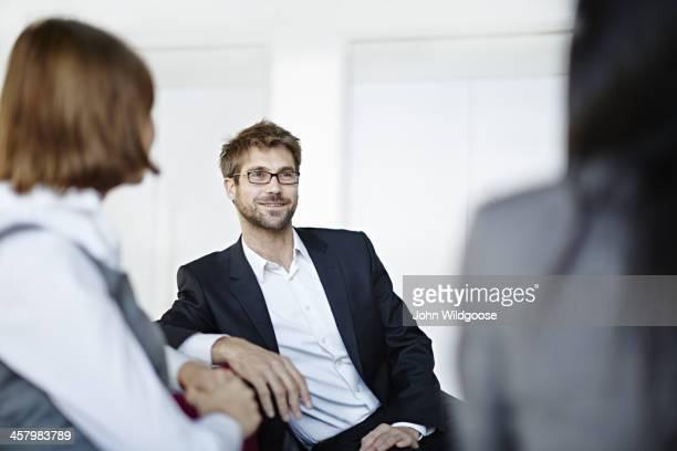 Business people talking in office