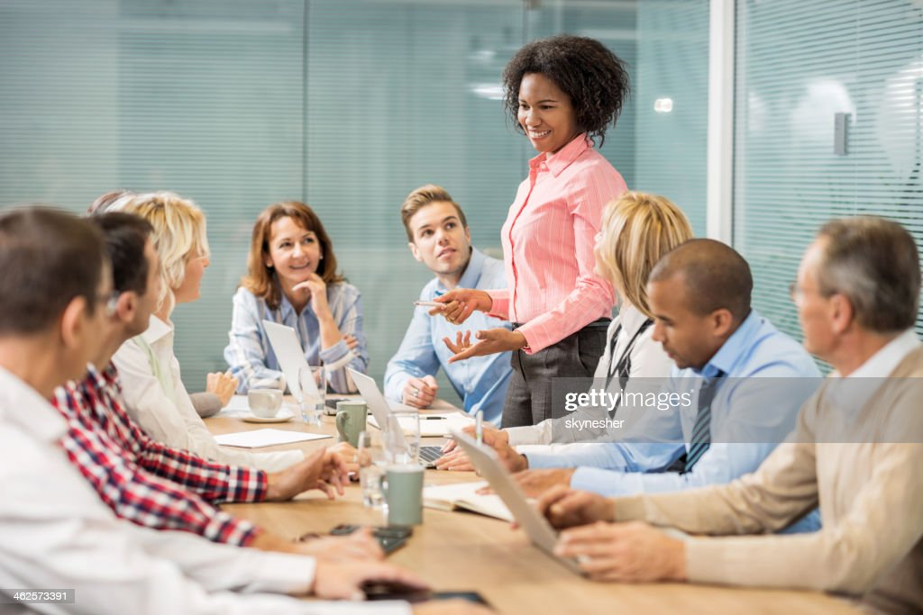 Business people talking on a meeting. : Stock Photo