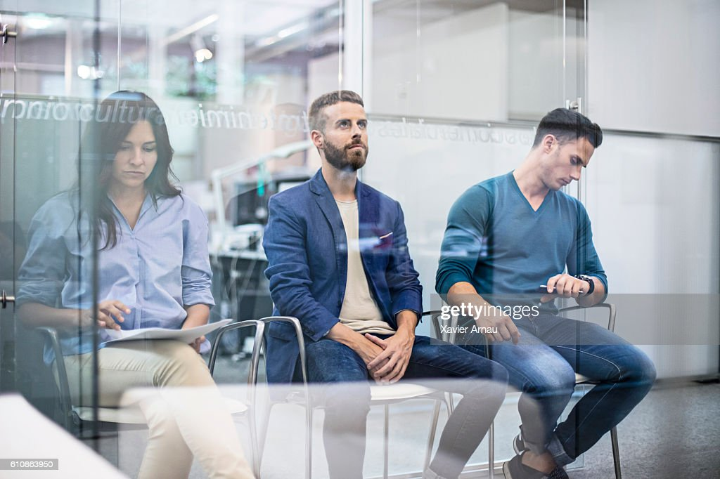 Business people waiting for an interview job : Stock Photo
