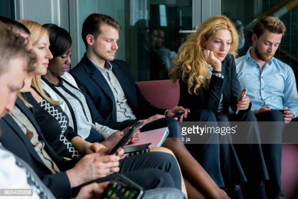 Business people waiting for results of interview
