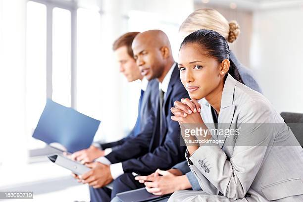 Business People Waiting Nervously