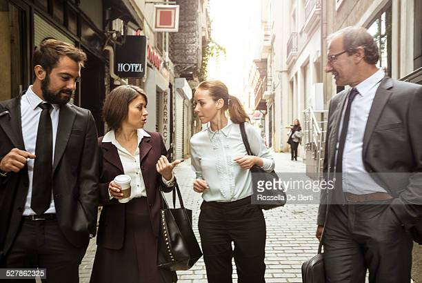 Business People Walking On The Streets Of Istanbul