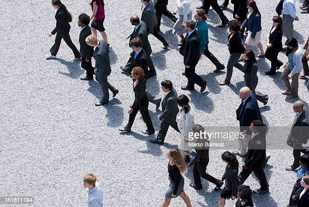 Business people walking