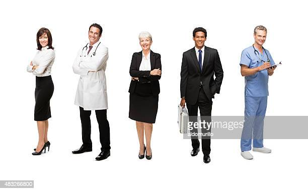 Business people with medical staff