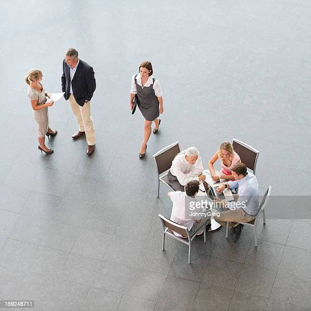 Business People Working and Meeting