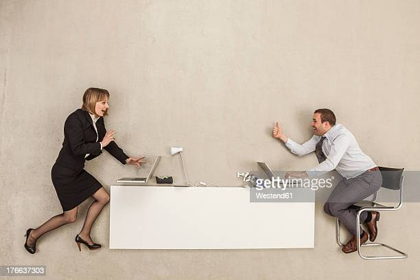 Business people working at office desk