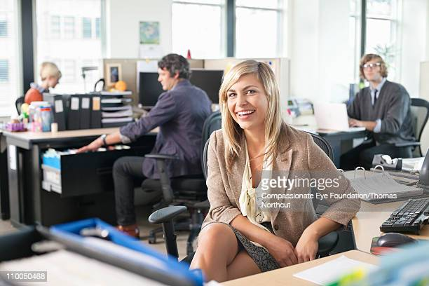 """business people working in an office space - """"compassionate eye"""" fotografías e imágenes de stock"""