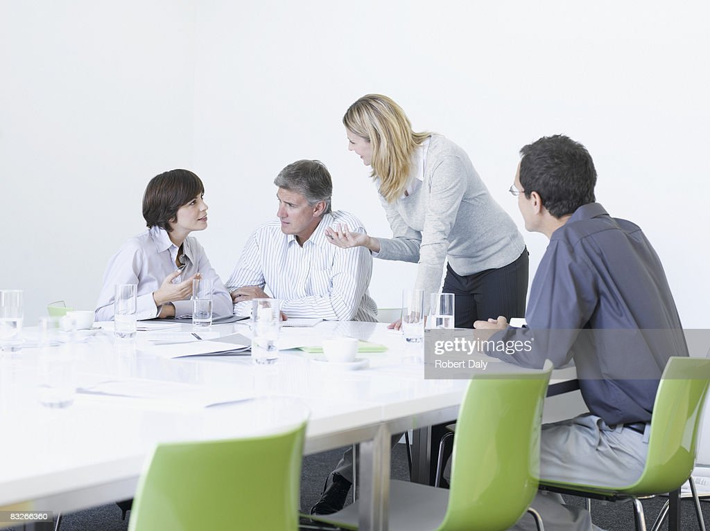 Business people working in conference room : Stock Photo