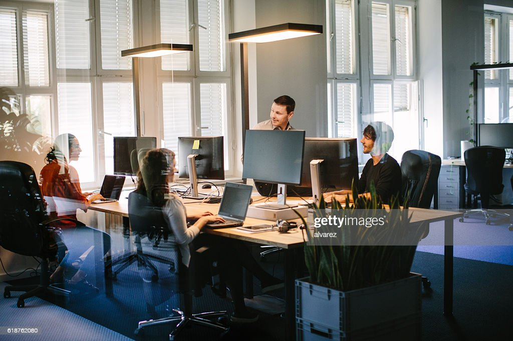 images office space. Business People Working In Modern Office Space Images