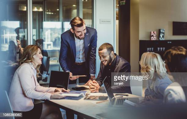 business people working in the office - conference stock pictures, royalty-free photos & images