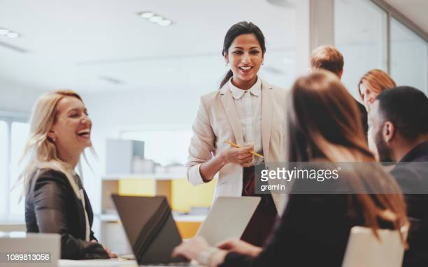 business people working in the office - multiracial group stock pictures, royalty-free photos & images