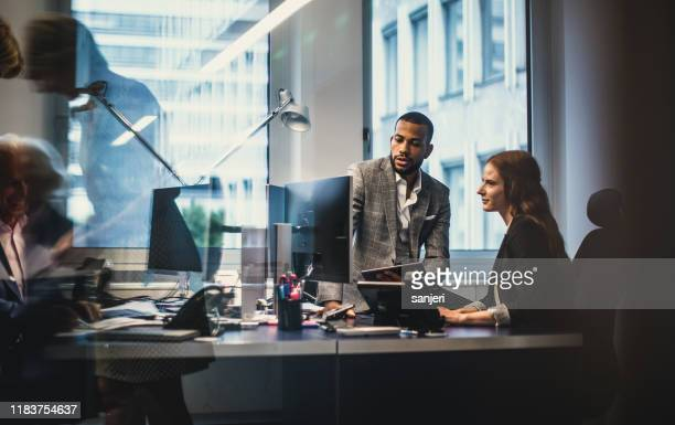 business people working in the office - employee engagement stock pictures, royalty-free photos & images