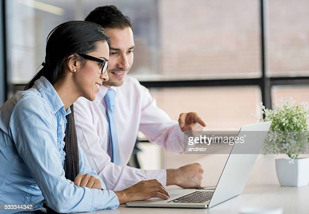 Business people working online