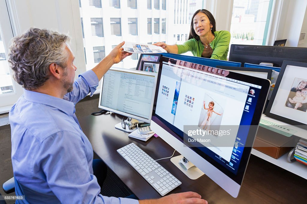 Business people working together in office : Foto stock
