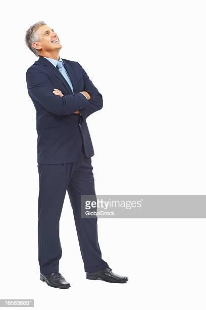 business person - blick nach oben stock-fotos und bilder