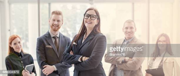 Business persons posing