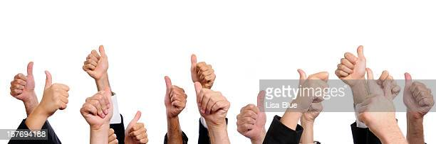 Business Persons Showing Thumbs Up.Copy Space